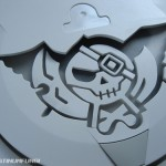 custom skies arcadia dreamcast mod platinumfungi platinum fungi blue led nes guy jayrod2 pirate swords skull
