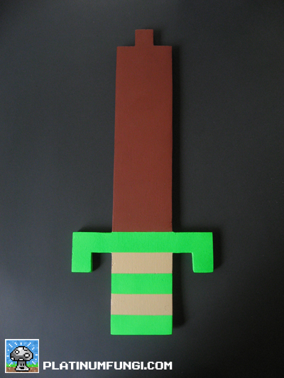 Diy Guide How To Make Links 8 Bit Wooden Sword From The Legend Of