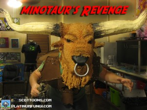 minotaur, costume, cosplay, scottoons, platinumfungi, team, hackaday,