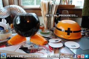 Mega Man Hard Hat Enemy Met cosplay metall