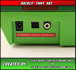 backlit tmnt teenage mutant ninja turtles nes nintendo platinumfungi custom guy