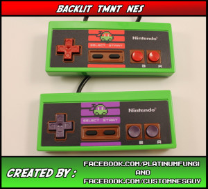 backlit tmnt teenage mutant ninja turtles nes nintendo platinumfungi custom guy