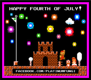 Super Mario Bros Happy 4th of July 2014 platinumfungi