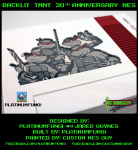 backlit tmnt 30th ann nes nintendo teenage mutant ninja turtles platinumfungi jared guynes custom guy 2014 movie