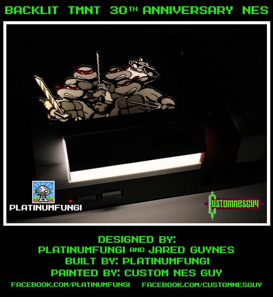 backlit tmnt 30th ann nes nintendo teenage mutant ninja turtles platinumfungi jared guynes custom guy 2014 movie