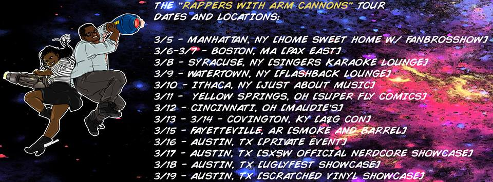 Mega Ran Sammus Tour March 2015 rappers rap nintendo mega man platinumfungi