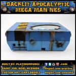 Backlit Apocalyptic Mega Man NES nintendo platinumfungi custom airbrush art capcom rockman
