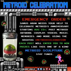 metroid celebration #metroidcelebration nes nintendo platinumfungi free prizes