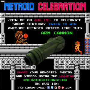 metroid celebration #metroidcelebration arm cannon nes nintendo prize free birthday platinumfungi retro 80s gaming