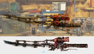 fallout 4 shishkebab fire flame sword real life make caleb kraft platinumfungi