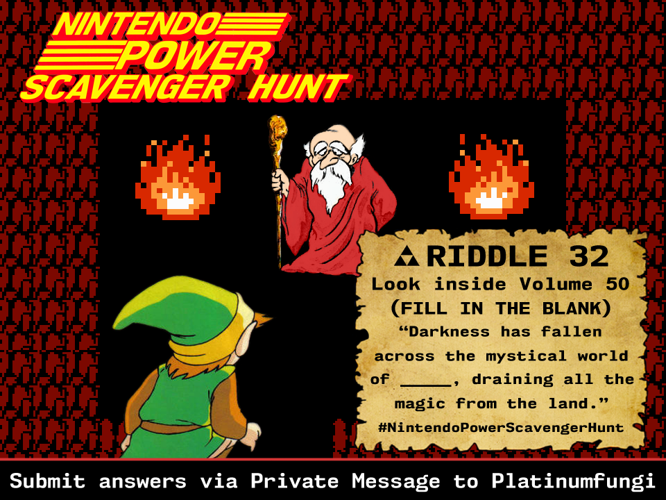 Link Talks To The Old Man On Day 20 Of The Nintendo Power Scavenger